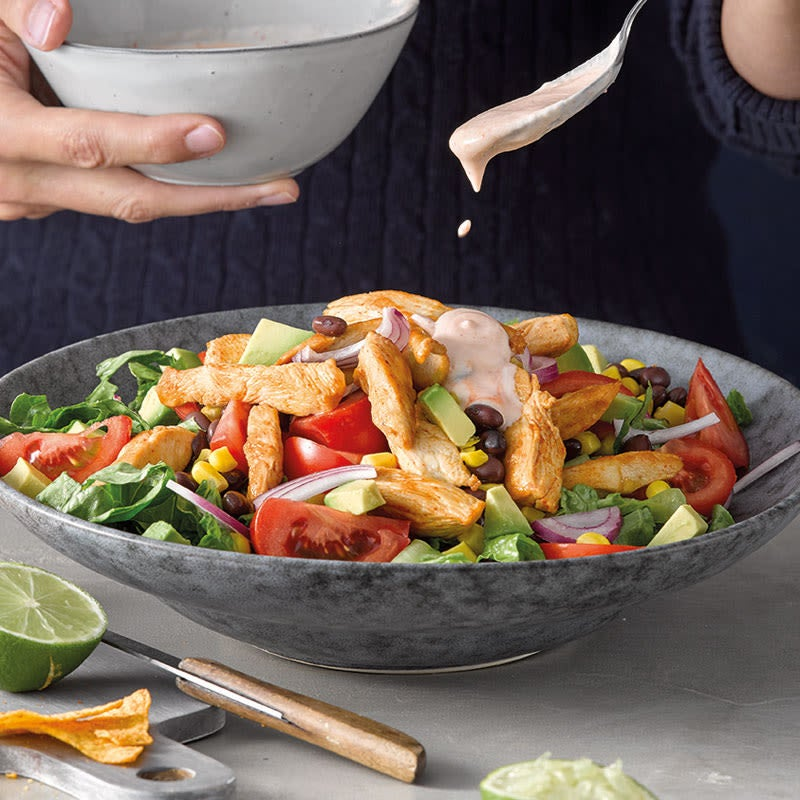 Photo de Salade épicée de tacos au poulet prise par WW
