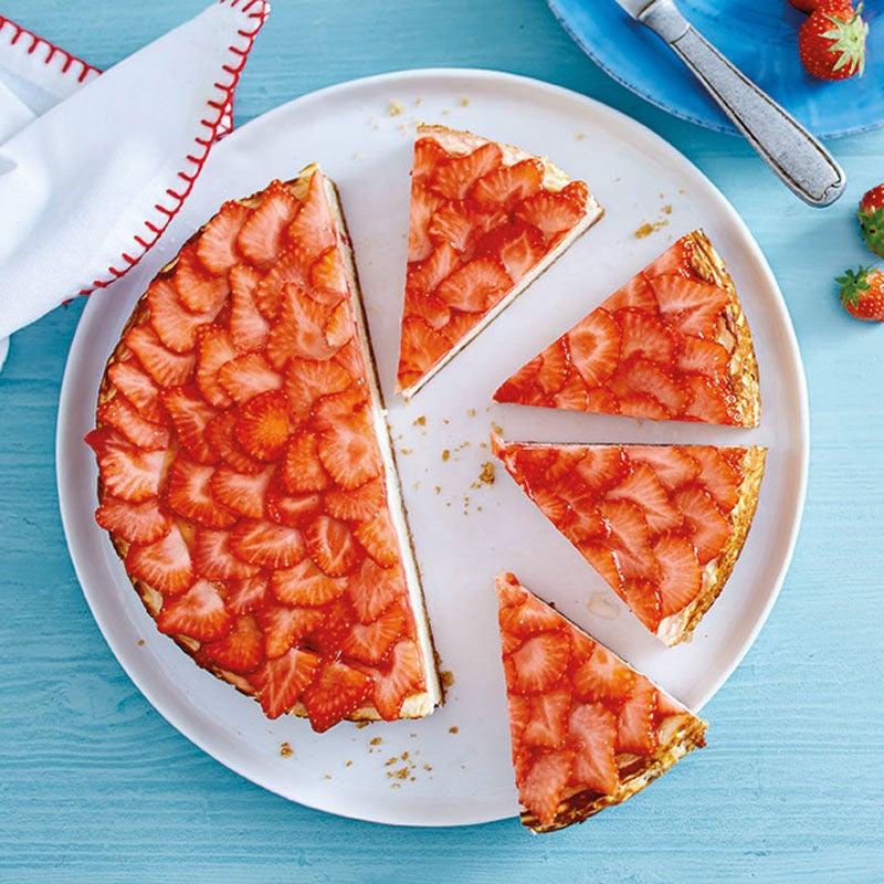 Photo de American cheesecake aux fraises prise par WW