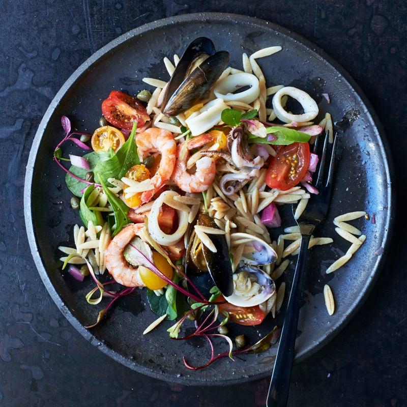 Photo de Salade de fruits de mer et vinaigrette citronnée prise par WW