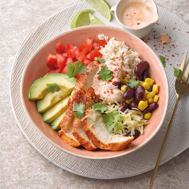 Photo de Chicken-bowl à la mexicaine prise par WW