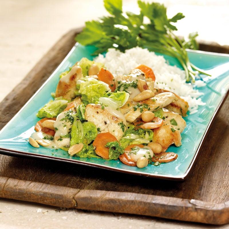 Foto Gemüse-Erdnuss-Wok mit Poulet von WW