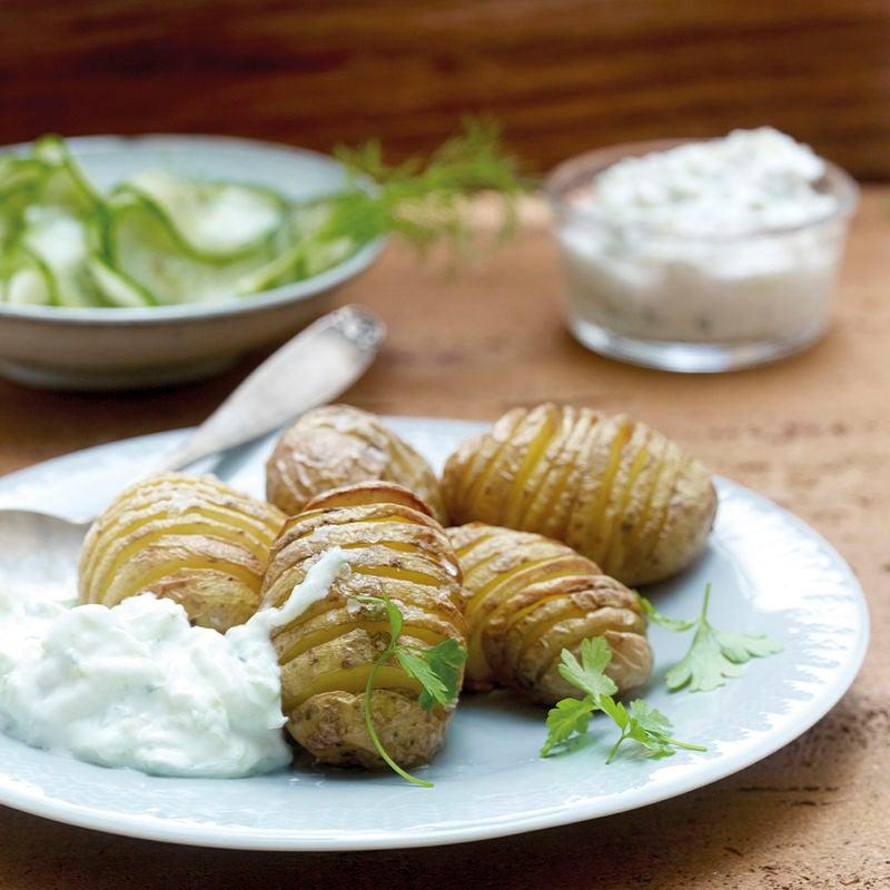 Photo de Pommes de terre suédoises et salade de concombre prise par WW