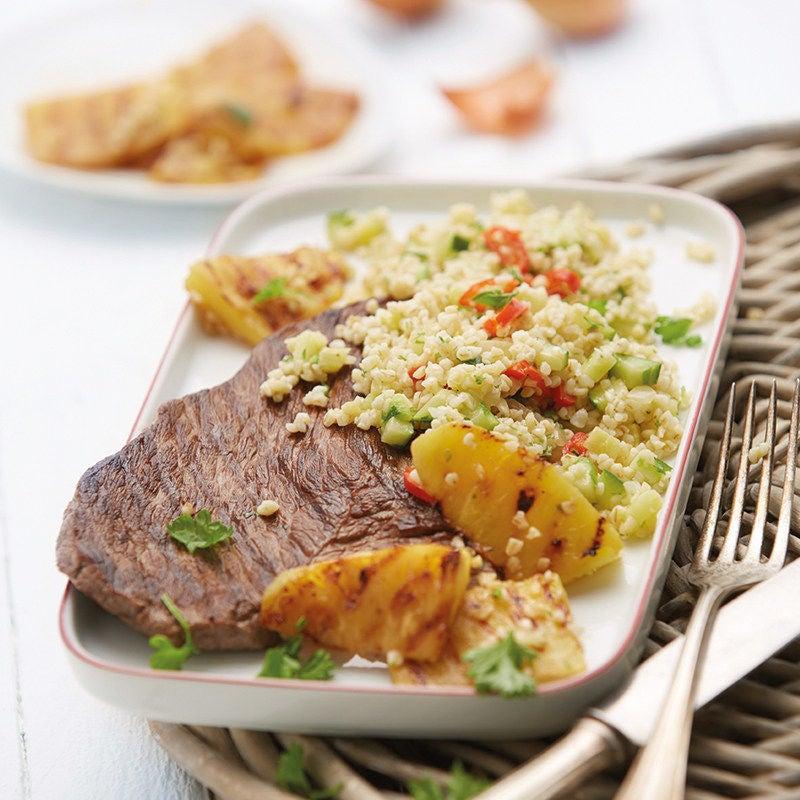 Photo de Steak de boeuf et boulgour de légumes épicé prise par WW