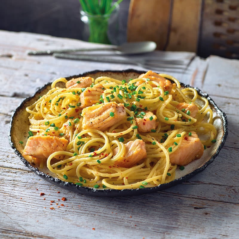 Foto Spaghetti mit Lachs-Carbonara von WW