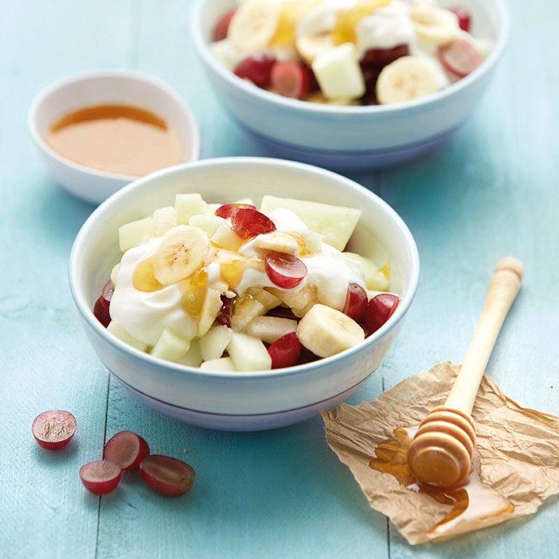 Photo de Salade de fruits et crème au yogourt prise par WW