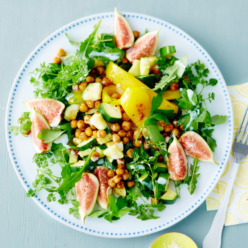 Photo de Salade sauvage aux pois chiches croustillants prise par WW