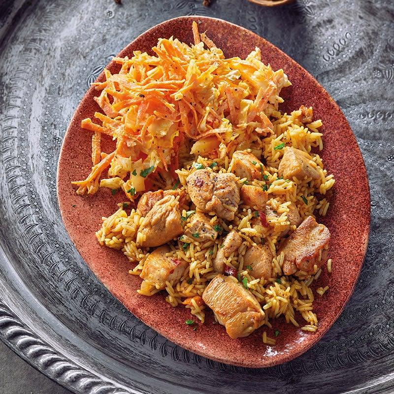 Photo de Poulet et riz épicés prise par WW