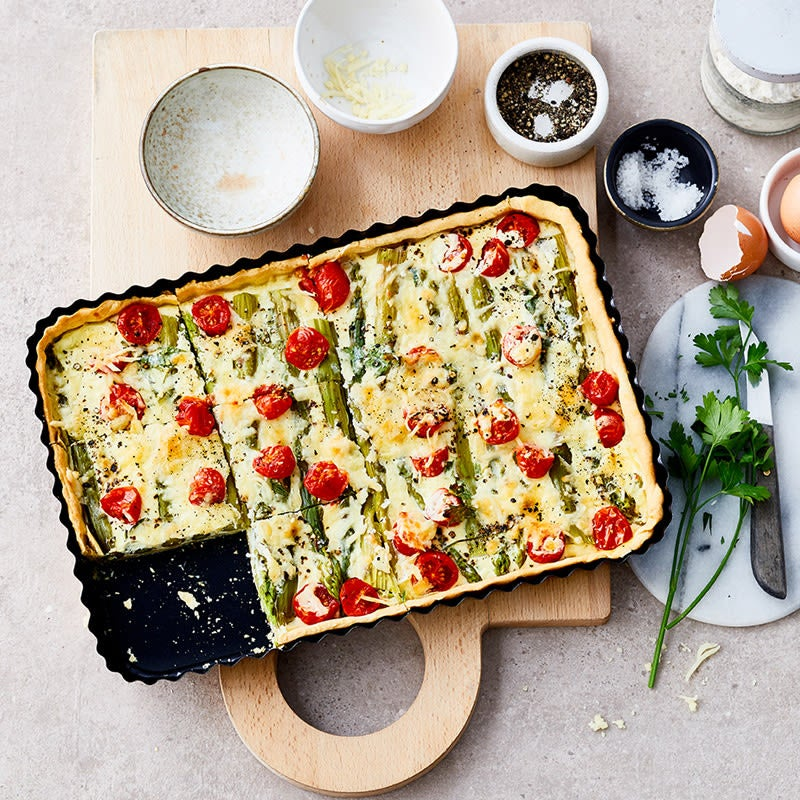 Photo de Quiche aux asperges et tomates prise par WW