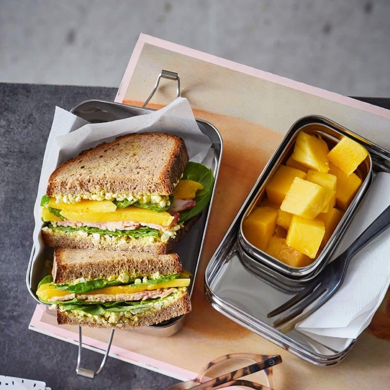 Foto Sandwich mit Trutenbrust und Mango von WW