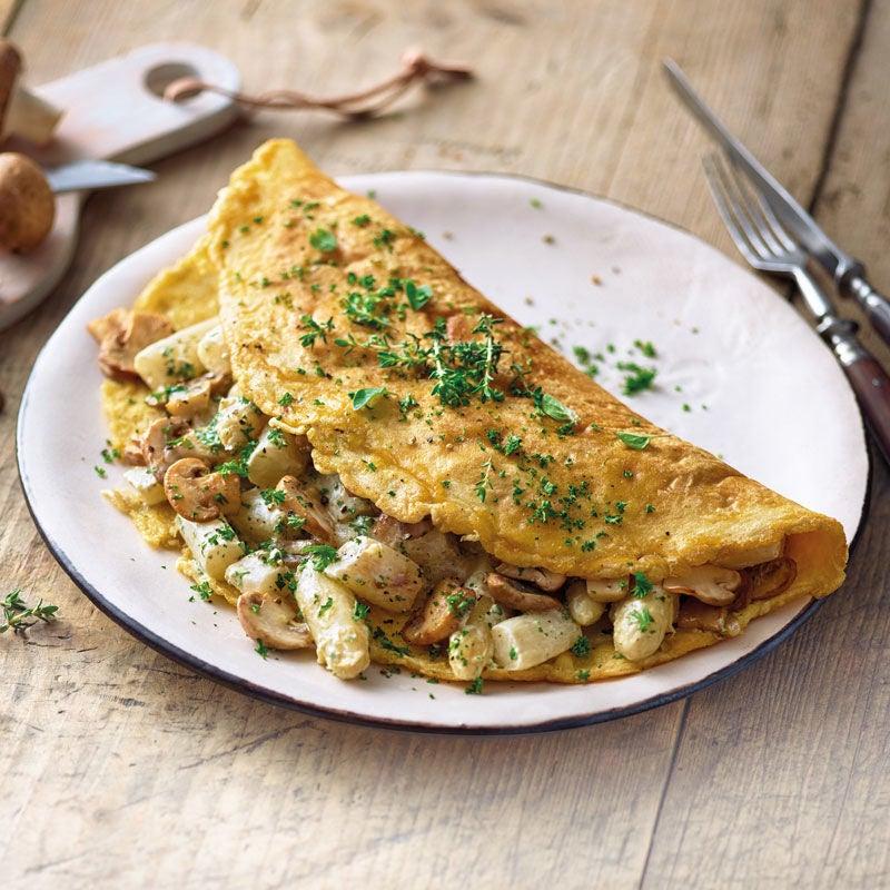 Photo de Omelette aux asperges et aux champignons prise par WW