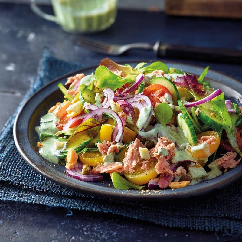 Photo de Salade de thon sauce basilic prise par WW