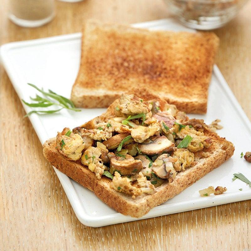 Photo de Omelette aux champignons sur toast prise par WW