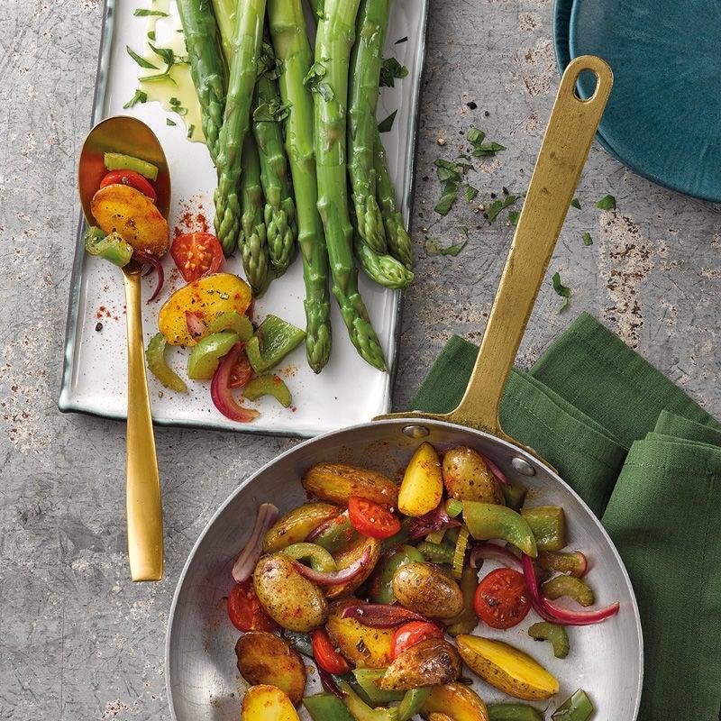 Foto Spargel mit Kartoffel-Gemüse-Pfanne von WW