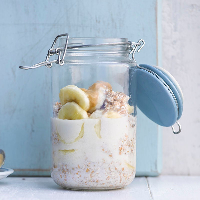 Foto Bananen-Dinkelflocken-Frühstück von WW