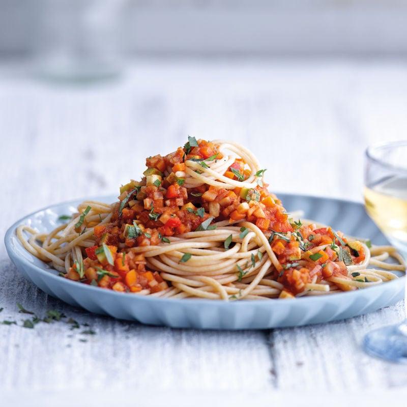 Foto Spaghetti mit Gemüsebolognese von WW