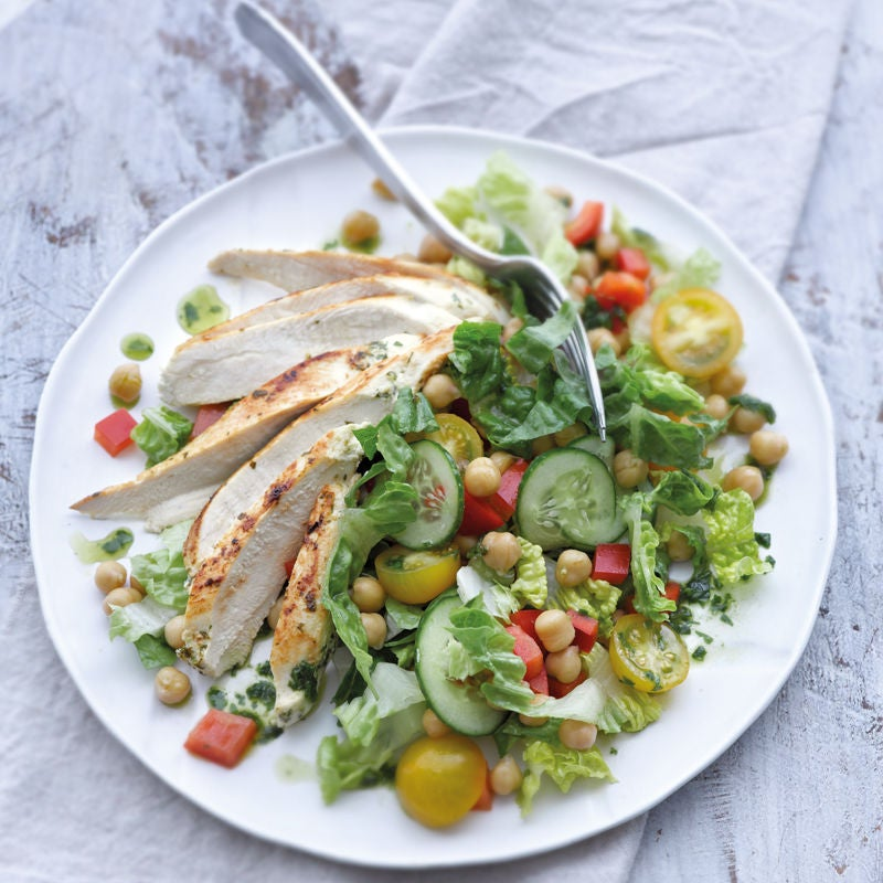 Photo de Filet de poulet sur salade de pois chiches prise par WW