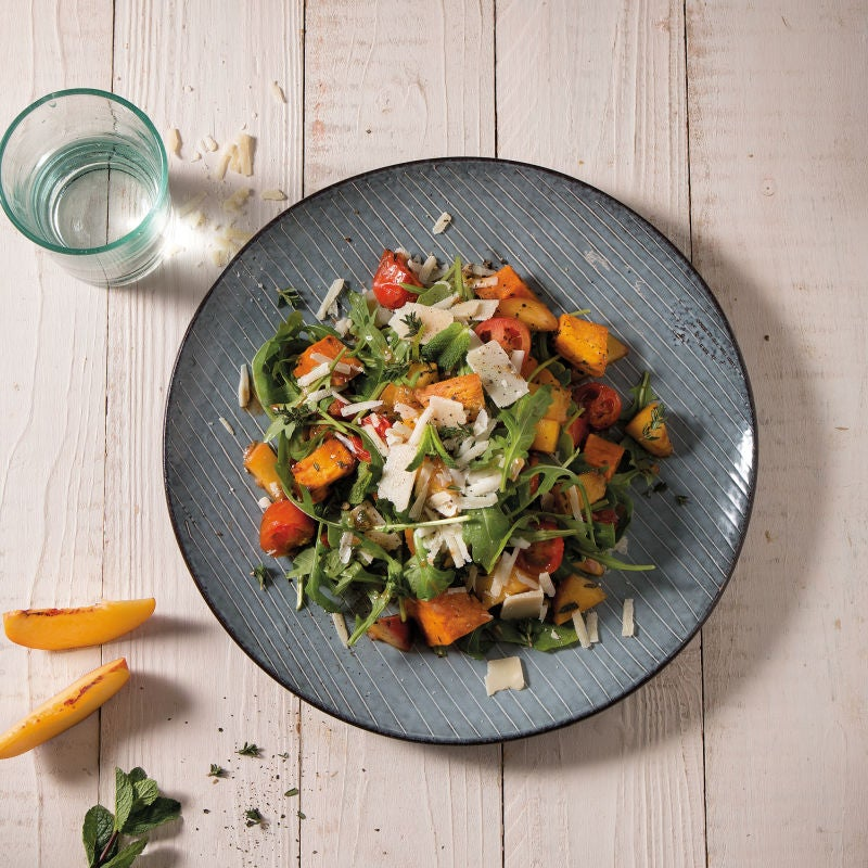 Foto Süsskartoffel-Birnen-Salat mit Rucola von WW
