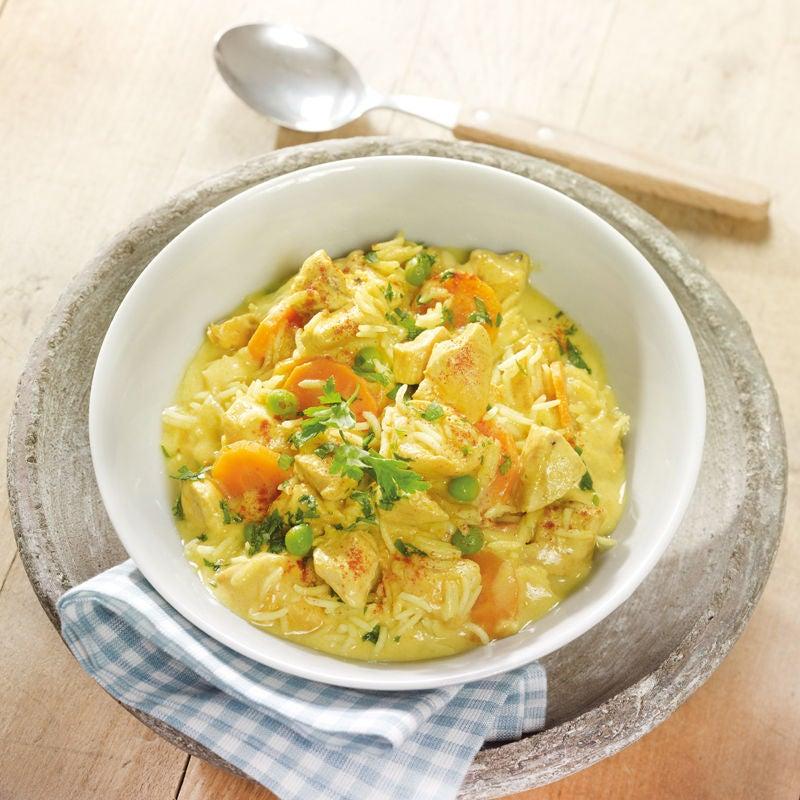 Foto Hähnchen-Curry-Topf mit Reis von WW