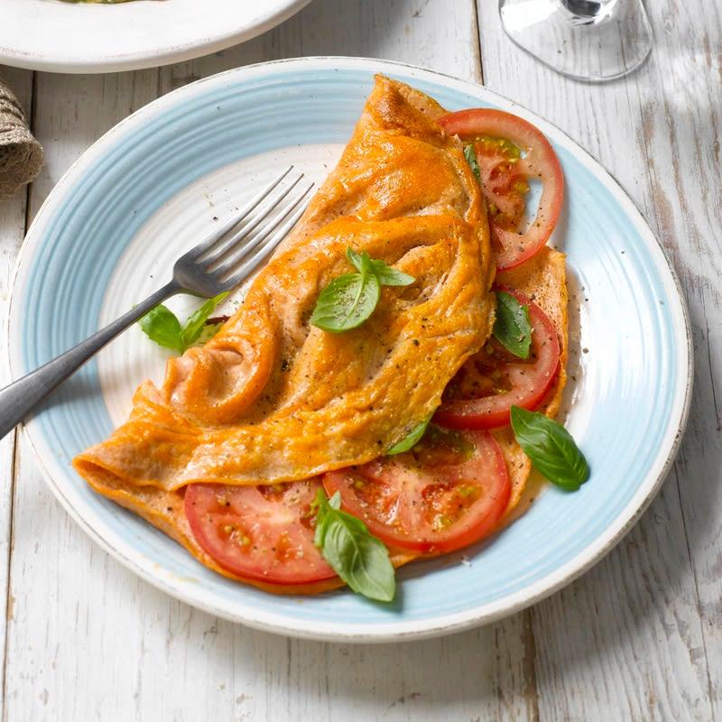 Foto Tomaten-Basilikum-Omelette von WW