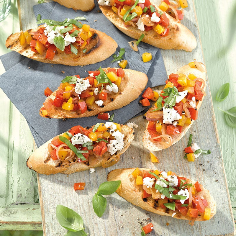 Photo de Bruschetta poivrons-feta prise par WW