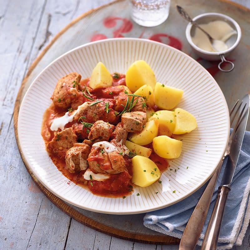 Foto Schweinsfilet-Topf mit Kartoffeln / Schweinefilet-Topf mit Kartoffeln von WW