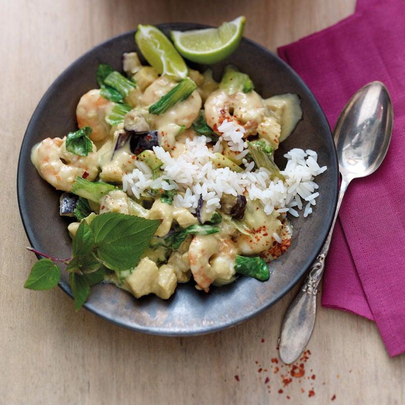 Foto Grünes Thai-Curry mit Crevetten von WW