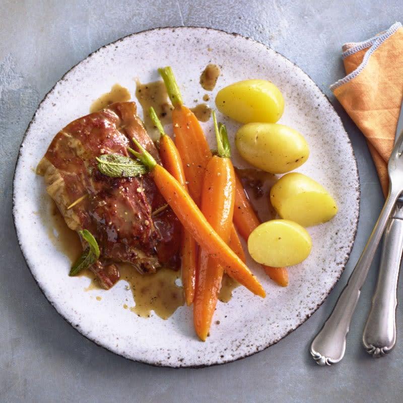 Photo de Saltimbocca de filet de porc et carottes glacées prise par WW