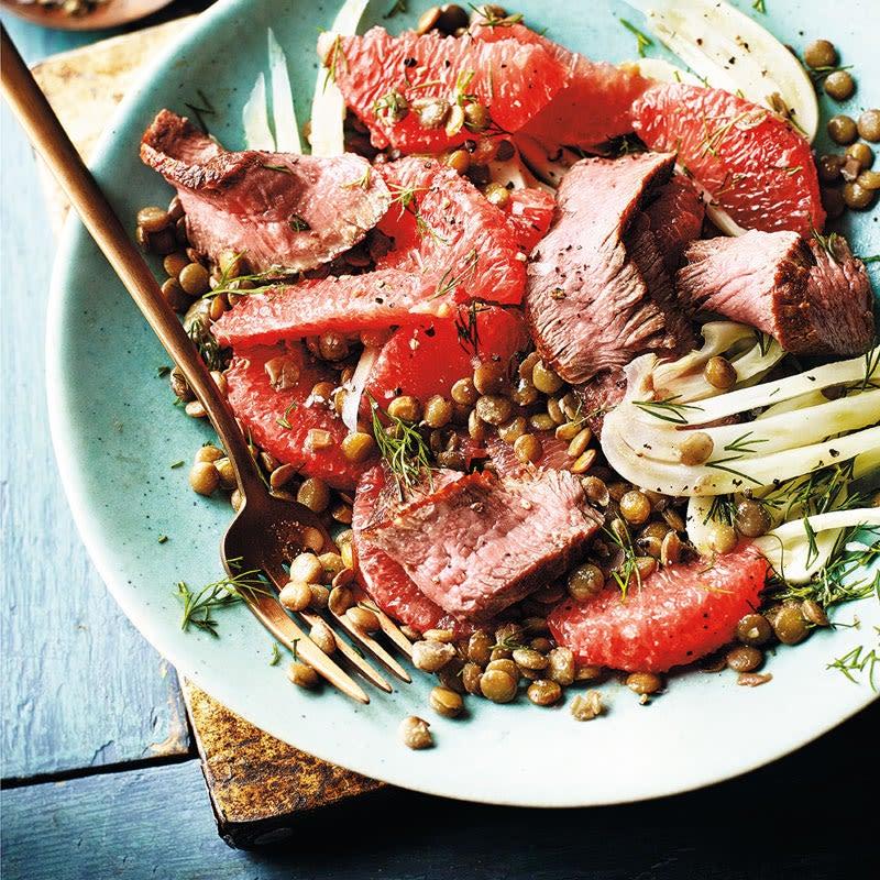 Foto Steak-Fenchel-Salat mit Linsen und Grapefruit von WW