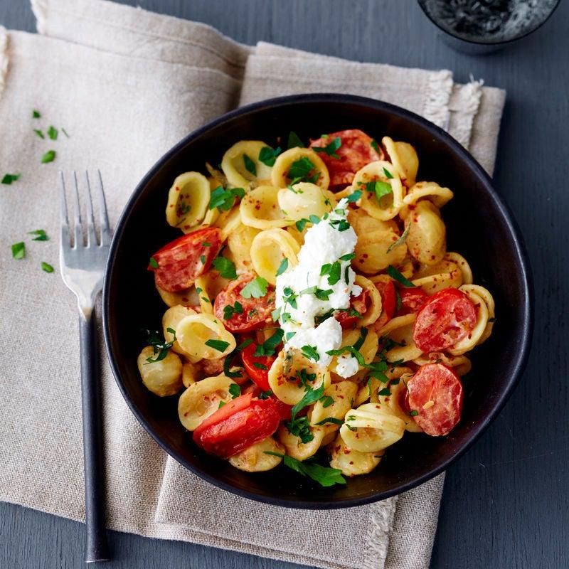 Photo de Pâtes aux tomates fondues prise par WW