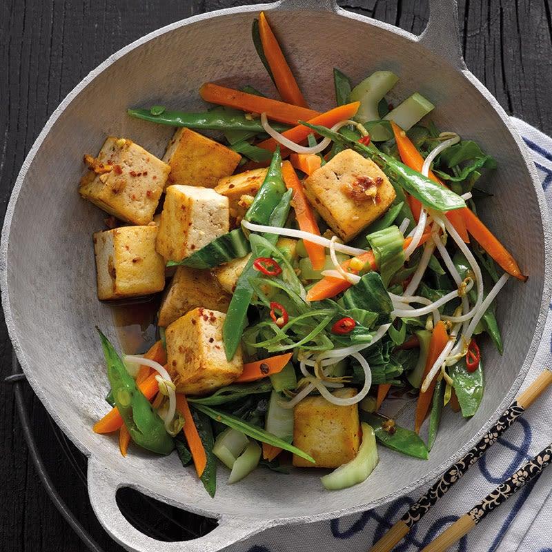 Photo de Poêlée à l'asiatique et tofu à l'ail prise par WW