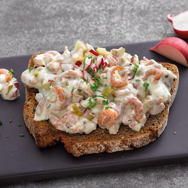 Photo de Pain grillé et salade de crevettes prise par WW