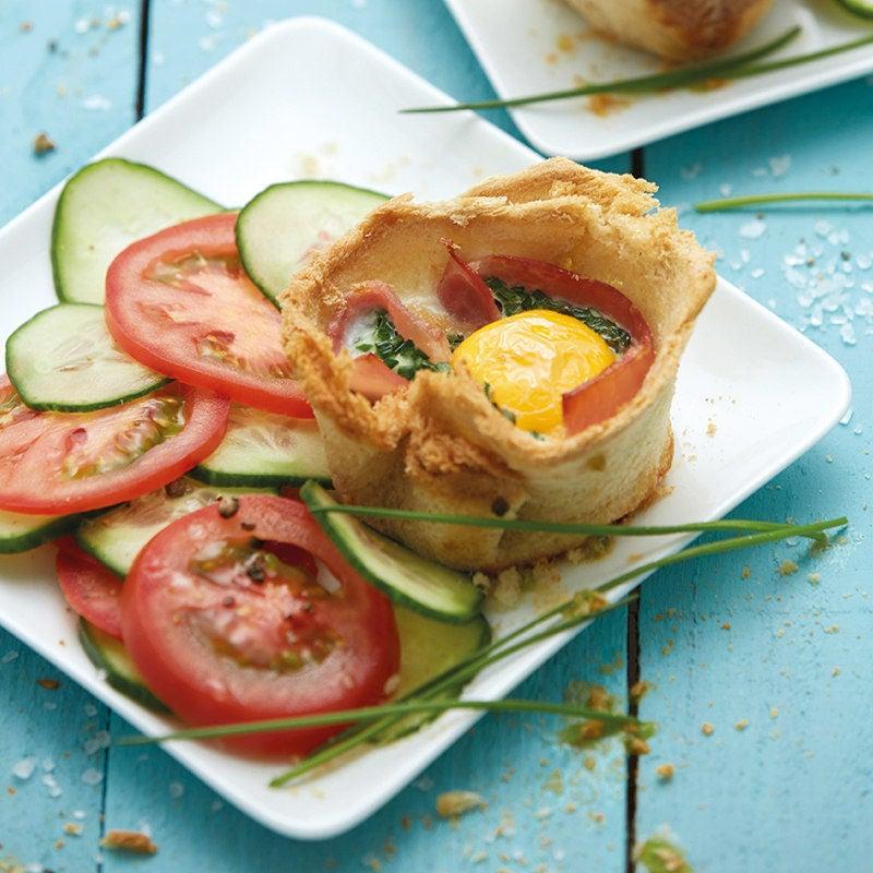 Foto Herzhafte Frühstücksmuffins mit Schinken von WW