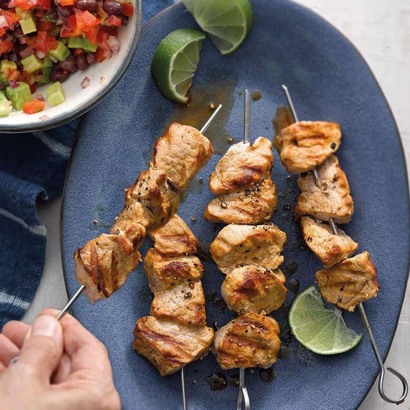 Photo de Salsa mexicaine et brochettes de porc prise par WW
