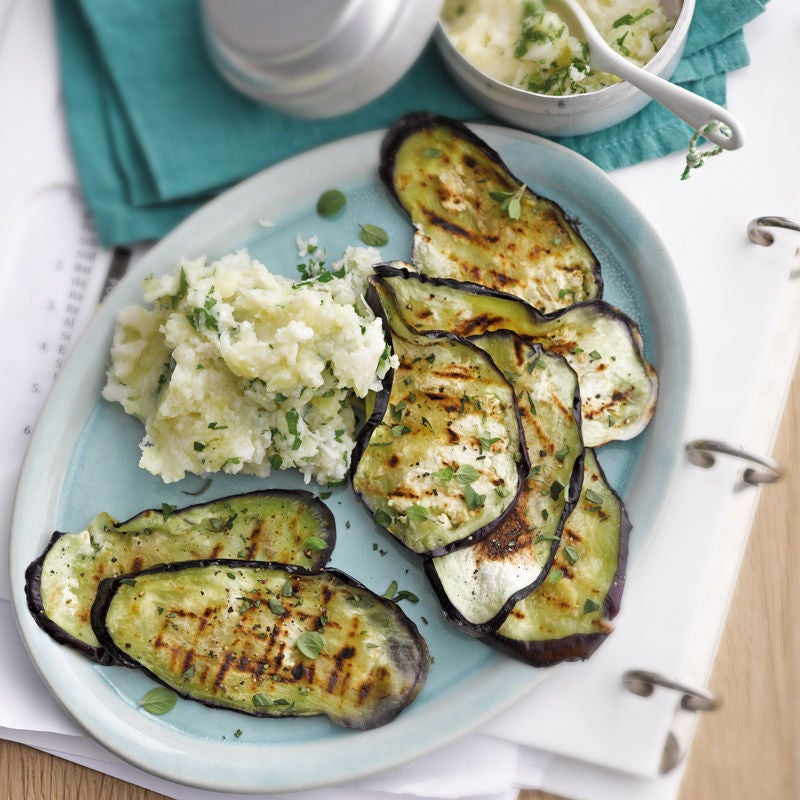 Photo de Aubergine grillée et purée de pommes de terre et chou-fleur prise par WW
