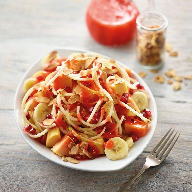 Photo de Salade de fruits et sa sauce aux fraises prise par WW