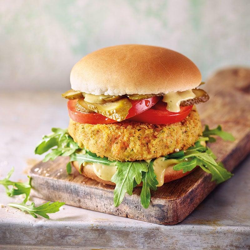 Photo de Burger végétarien «carottes-pois chiches» prise par WW