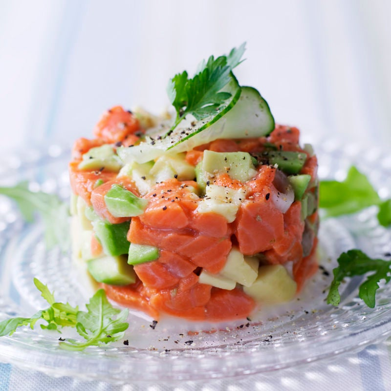 Photo de Tartare de saumon concombre et avocat prise par WW