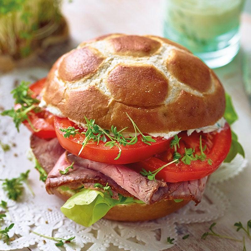 Photo de Petit pain au roastbeef et crème de cresson prise par WW