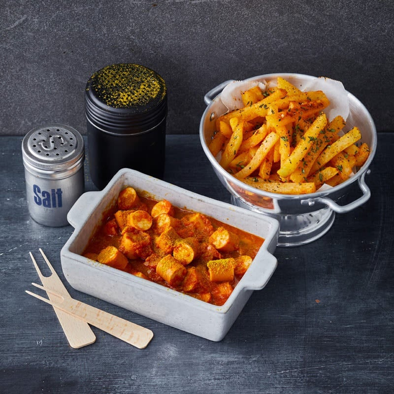 Foto Currywurst mit Kohlrabipommes von WW