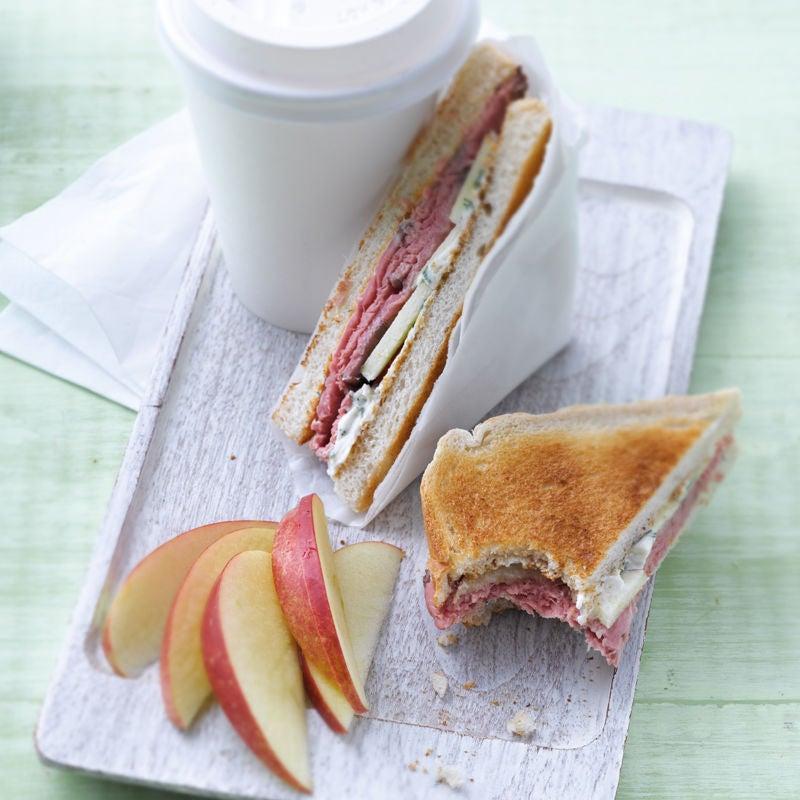 Foto Roastbeef-Sandwich mit scharfer Meerrettichcreme von WW