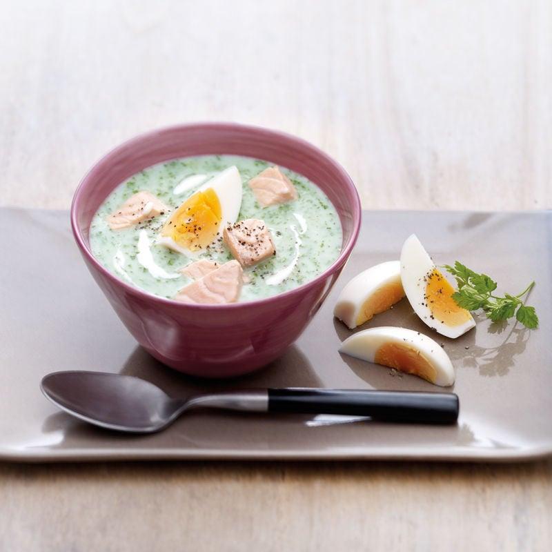 Photo de Soupe d'épinards au saumon prise par WW