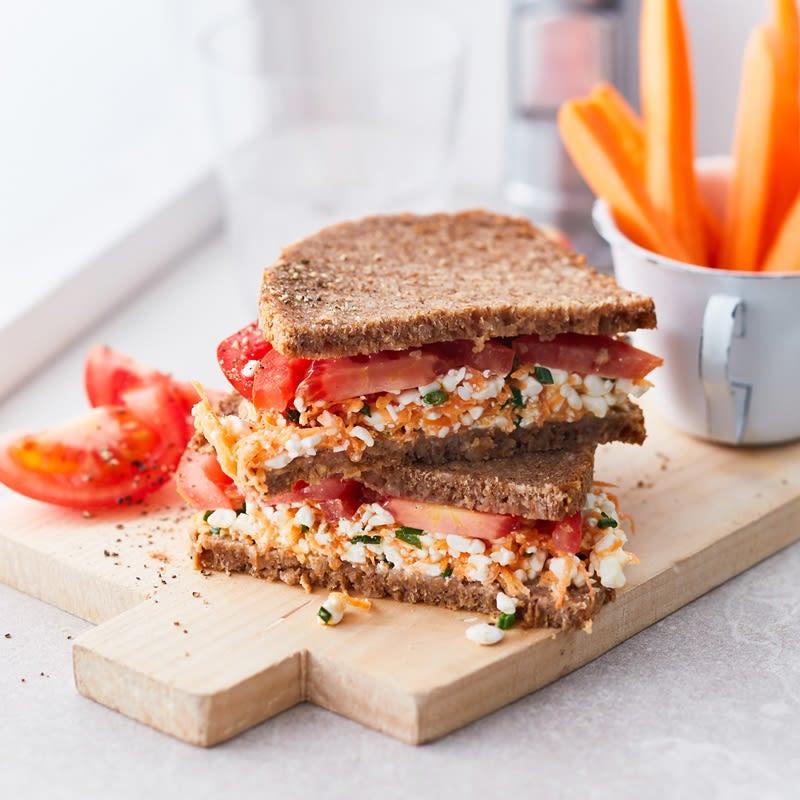 Photo de Sandwich aux carottes et au fromage frais prise par WW