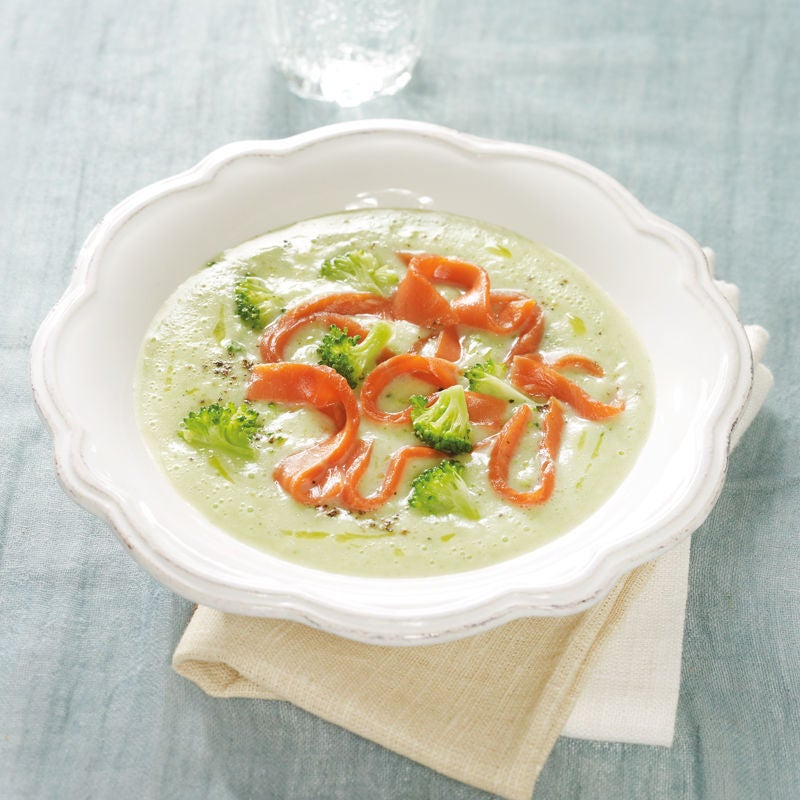 Photo de Soupe de brocolis au saumon prise par WW