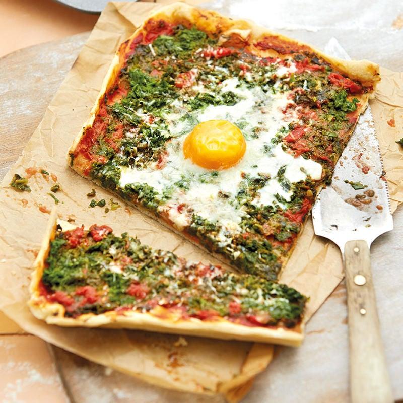 Photo de Pizza aux épinards prise par WW