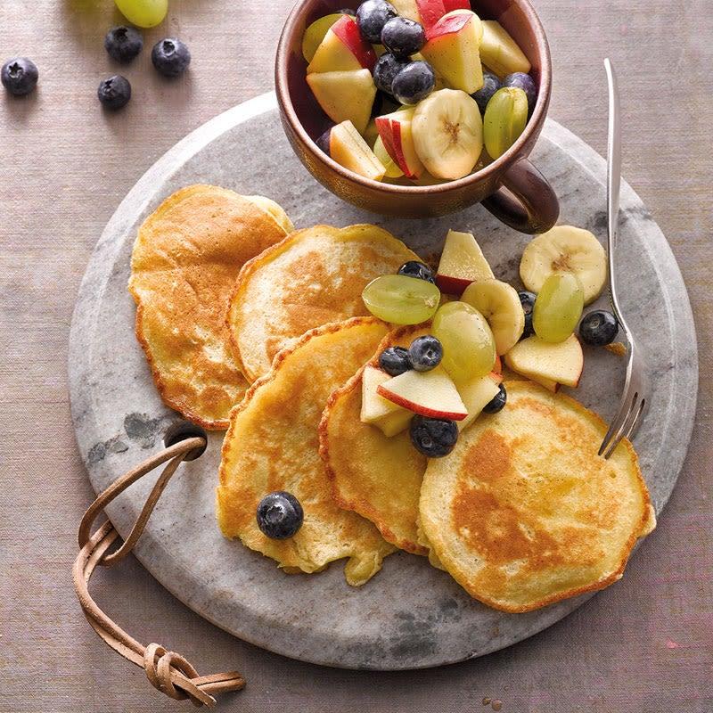 Photo de Pancakes de haricots et salade de fruits prise par WW
