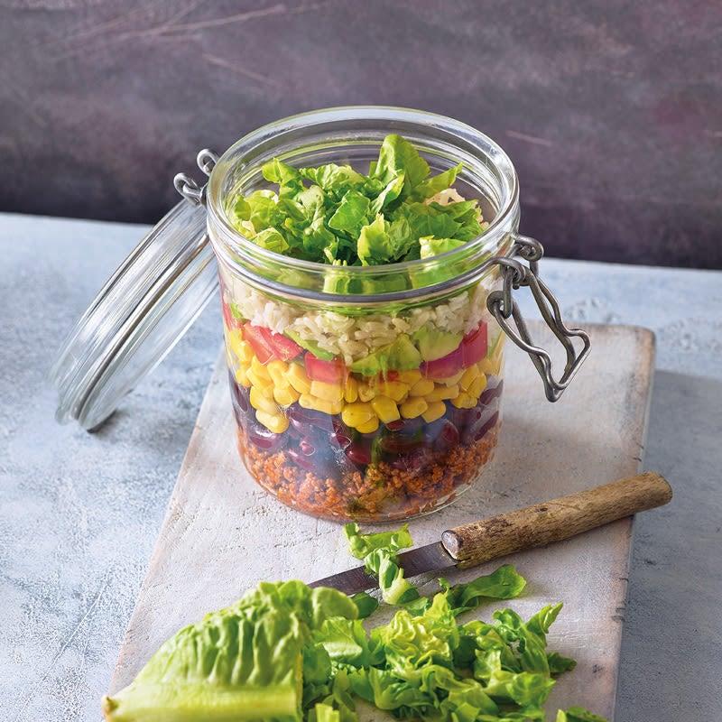 Photo de Salade en bocal façon burrito prise par WW