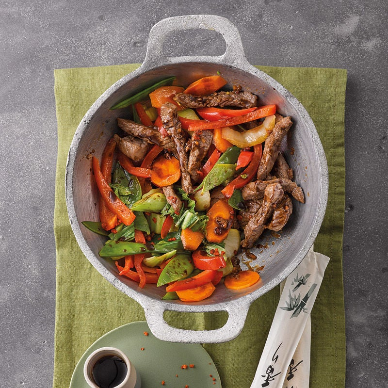 Photo de Wok de légumes au boeuf prise par WW