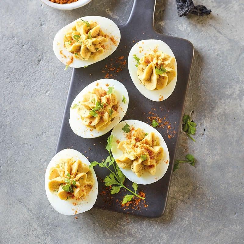 Photo de Œufs mimosa à la crème de pois chiches prise par WW