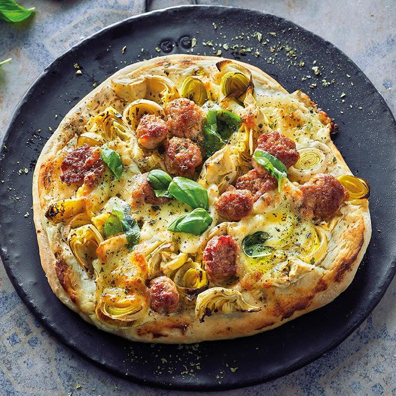 Foto Pizza bianca mit Salsiccia von WW