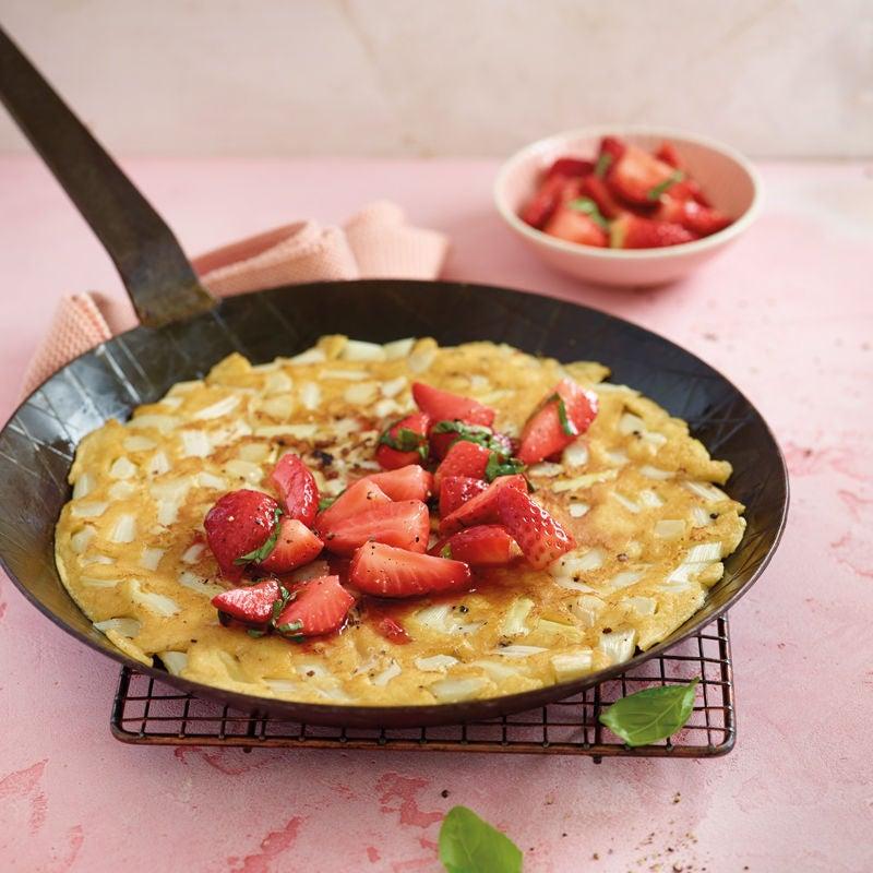 Photo de Crêpe aux fraises et aux asperges prise par WW